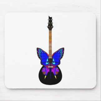 Butterfly Guitar Mouse Pad