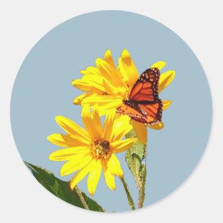 butterfly Habitat Classic Round Sticker