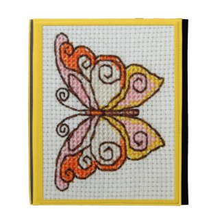 Butterfly hand embroidery cross stitch iPad cases