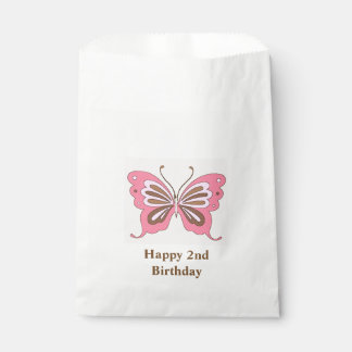 Butterfly Happy Birthday Custom Age Favour Bag
