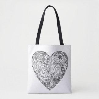 Butterfly Heart Pattern 2 Tote Bag