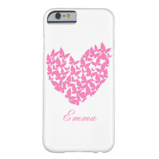 Butterfly heart pink love watercolor iphone 6 barely there iPhone 6 case