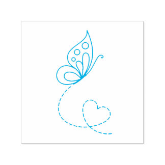 Butterfly Heart Self-inking Stamp
