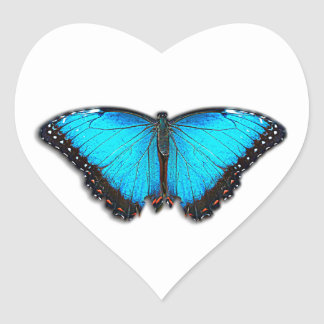 Butterfly Heart Sticker