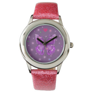 butterfly heart watch