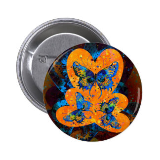 Butterfly Hearts Button