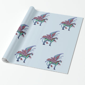 Butterfly Horse Pegasus Fairy Wrapping Paper