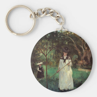 Butterfly hunting by Berthe Morisot Key Chains