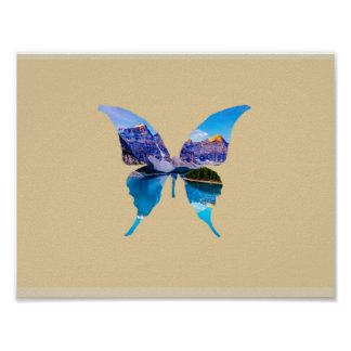 Butterfly Illusion Nature Poster