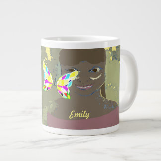 butterfly image custom name cup