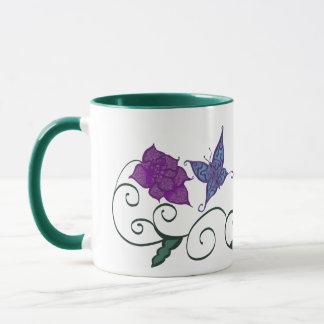 Butterfly In a Flower Garden Mug
