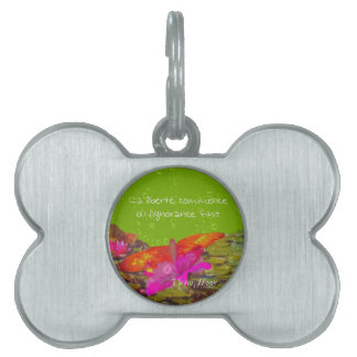 Butterfly in a pond. pet ID tags