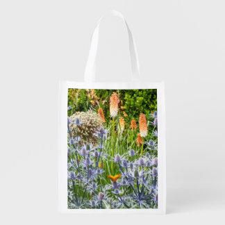 Butterfly In A Summer Garden Reusable Grocery Bag