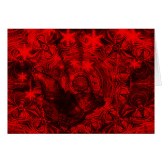 Butterfly in black and red horizontal card