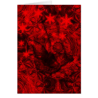 Butterfly in black and red vertical card