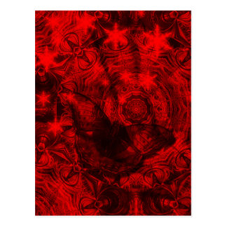Butterfly in black and red vertical postcard