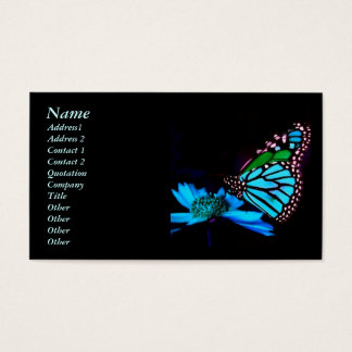 Butterfly in Blue Light Business Card