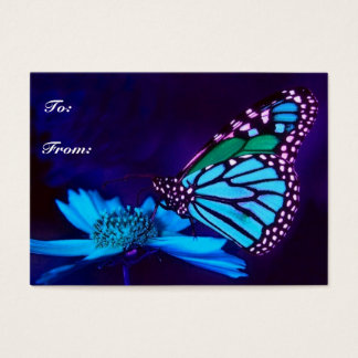 Butterfly in Blue Light Gift Tag