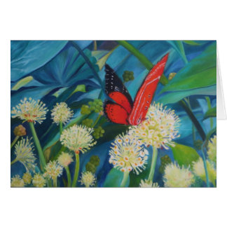 Butterfly in Flowers Card