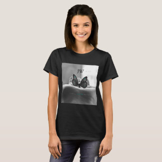 Butterfly in Hand - ShopJustWish Logo T-Shirt
