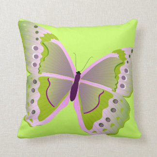 Butterfly in Pink and Green American MoJo Pillows Throw Cushions
