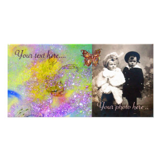 BUTTERFLY IN SPARKLES CUSTOMISED PHOTO CARD