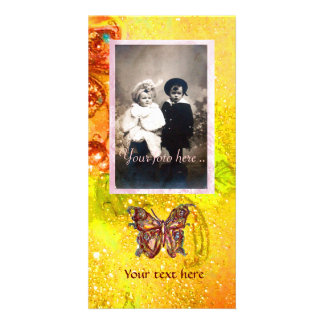 BUTTERFLY IN SPARKLES PHOTO CARD TEMPLATE