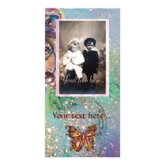 BUTTERFLY IN SPARKLES PHOTO GREETING CARD