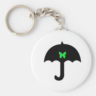 Butterfly in Umbrella Key Ring