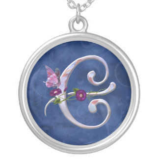 Butterfly Initial E Jewelry