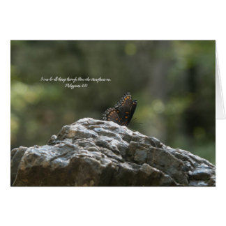 Butterfly Inspirational Greeting-Religious Card