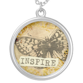 Butterfly Inspire Necklace Round