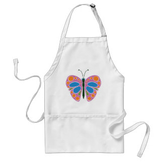 Butterfly Jam: Pink Standard Apron