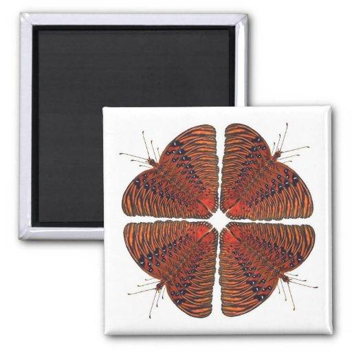 Butterfly Kaleidoscope Mandala Magnet