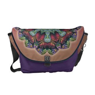 Butterfly Kaleidoscope Medallion Messenger Bag