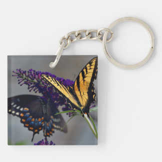 Butterfly Keychain (double-sided) Yellow and Black