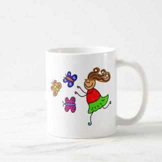 Butterfly Kid Basic White Mug