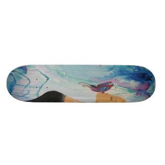 Butterfly kiss skateboard deck