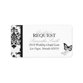 Butterfly Kisses Bold Address Label
