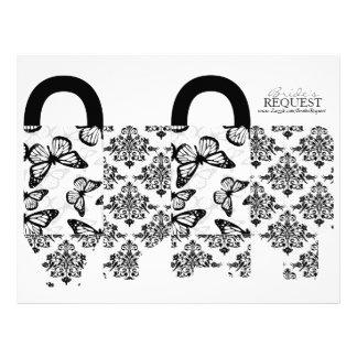 Butterfly Kisses Bold Favor Basket Template 4 21.5 Cm X 28 Cm Flyer