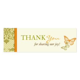 Butterfly Kisses Charming TY Skinny Card Pack Of Skinny Business Cards