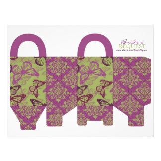 Butterfly Kisses Flirt Favor Basket Template 4 Personalized Flyer