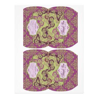 Butterfly Kisses Flirt Puff Box Template 21.5 Cm X 28 Cm Flyer