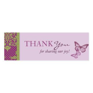 Butterfly Kisses Flirt TY Skinny Card Pack Of Skinny Business Cards