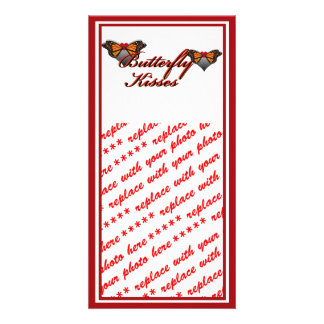 Butterfly Kisses Picture Card