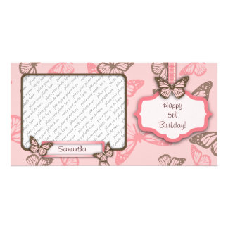 Butterfly Kisses PhotoCard II Custom Photo Card