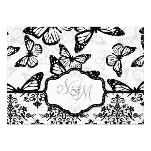 Butterfly Kisses Wedding Invitation Card_DrMullins