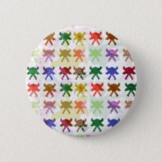 ButterFly Kite Pattern 6 Cm Round Badge