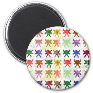 ButterFly Kite Pattern 6 Cm Round Magnet