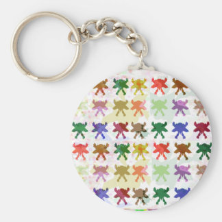 ButterFly Kite Pattern Basic Round Button Key Ring